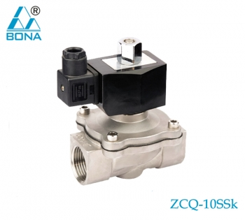 2/2 way N.O. Stainless steel solenoid valve ZCQ-10SSK