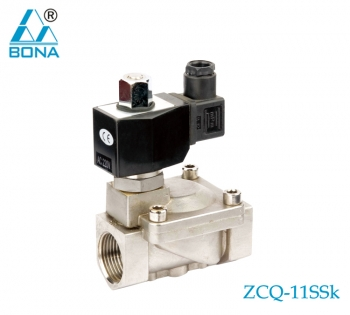 2/2 way N.O. Stainless steel megnetic valve ZCQ-11SSK
