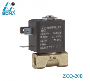 2/2 WAY BRASS SOLENOID VALVE  ZCQ-20B