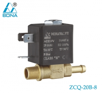2/2 way brass solenoid valve ZCQ-20B-8