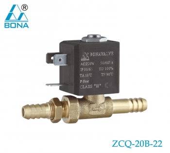 2/2 WAY BRASS SOLENOID VALVE ZCQ-20B-22