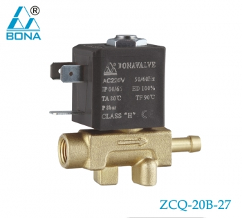 2/2 WAY BRASS SOLENOID VALVE ZCQ-20B-27
