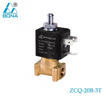 2/3 way brass solenoid valve ZCQ-20B-3T