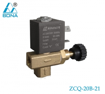 2/2 WAY BRASS SOLENOID VALVE ZCQ-20B-21