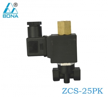 2/2 WAY PLASTIC SOLENOID VALVE ZCS-25PK