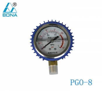 SHOCKPROOF PRESSURE GAUGE PGO-8